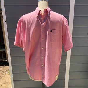 Brooks Brothers red short sleeve button up